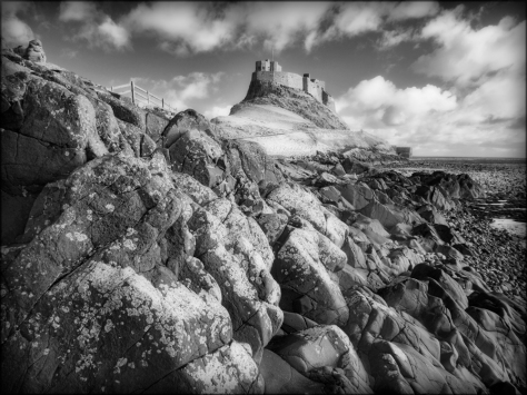 Infrared GX1 image of Lindisfarne Castle on Holy Island, Northumberland.