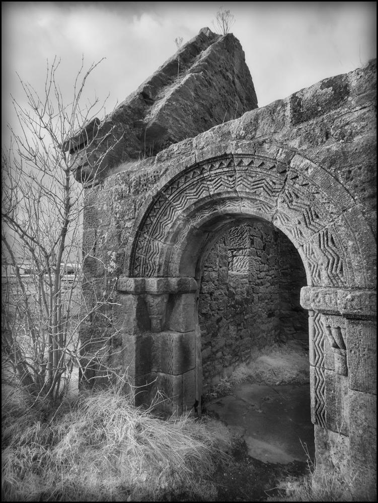 Old Church Ruin in Infrared