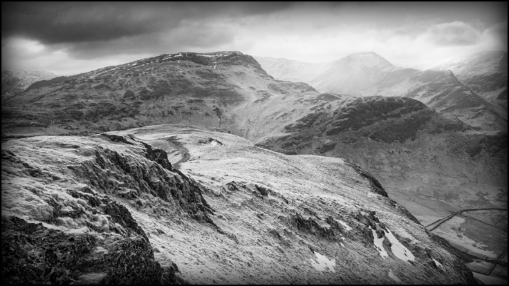 Newlands Horseshoe in the UK Lake District. Captured on a GX1 converted to shoot Infrared Light.