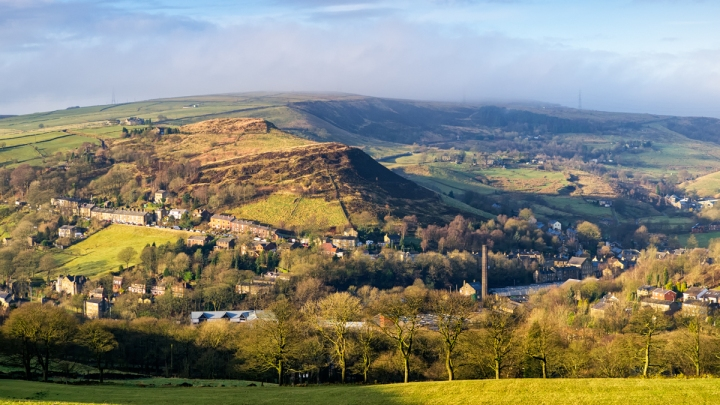 View above Delph in Saddleworth