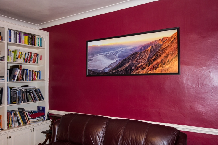 Print mounted in my front room