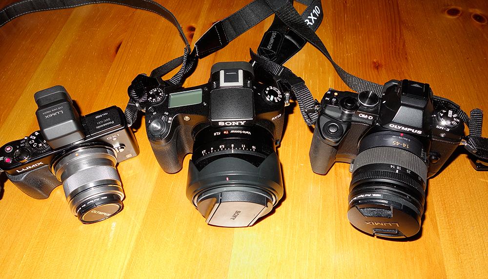 GX1 V's EM5 V's RX10