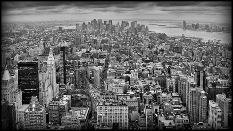 New York in the Evening. Captured on a Panasonic LX5.