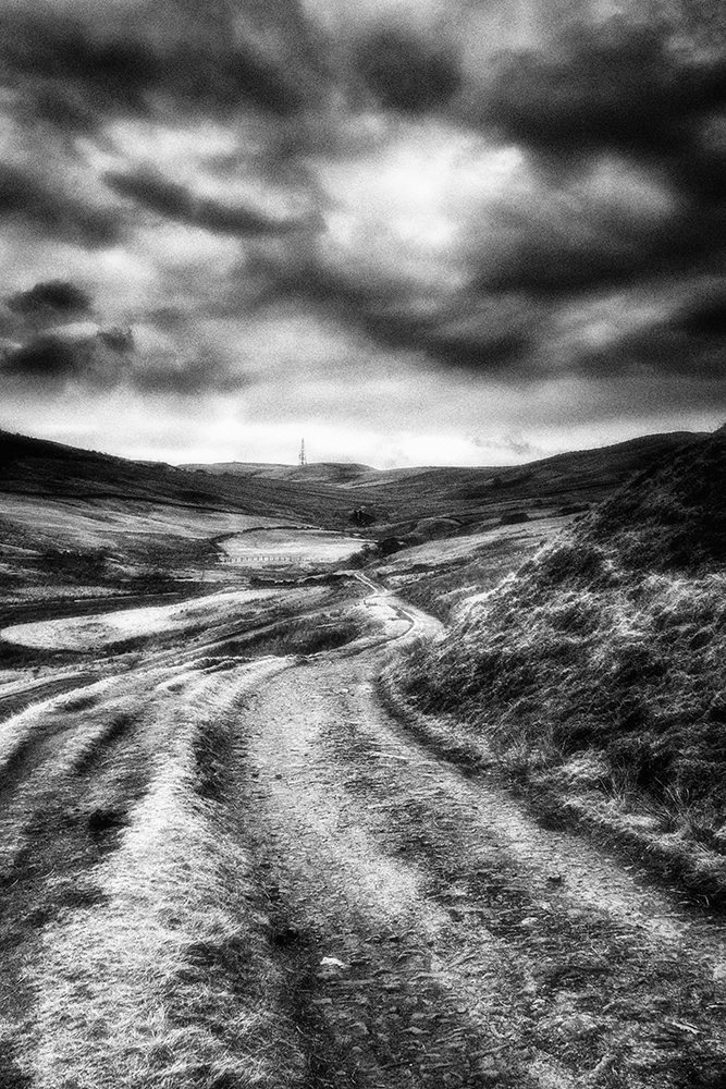 Ogden near Milnrow. Conversion with Nik Color Efex using the Infrared and Grain filters. Captured with a Sony RX10