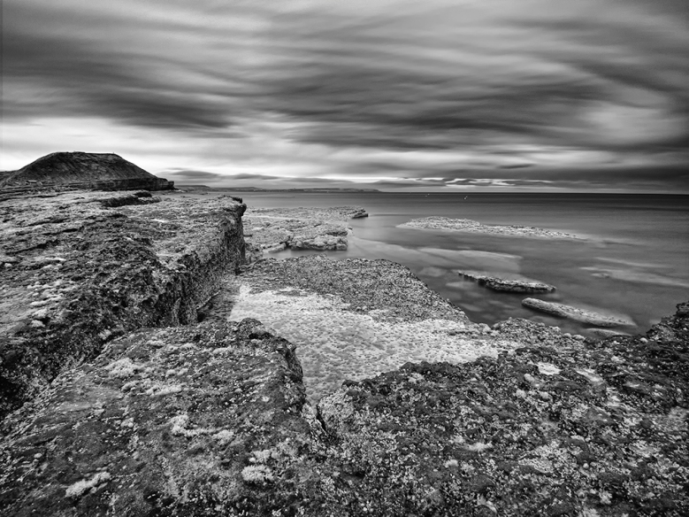 Filey Brigg in Infrared following convesion in Nik Silver Efex Pro