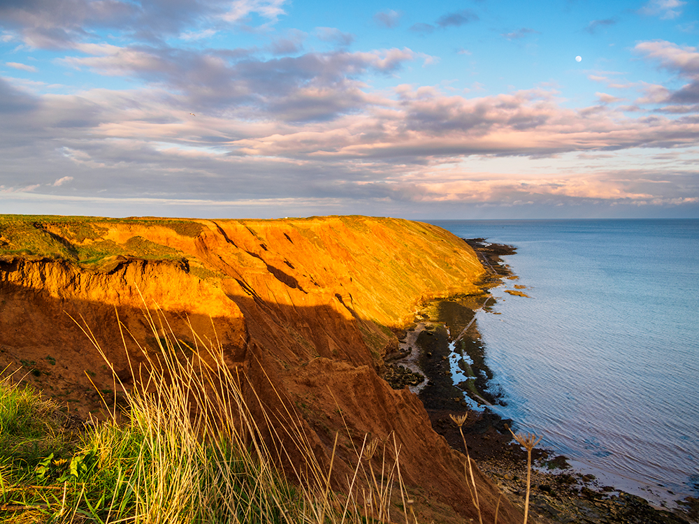Sunset on Filey Brigg. Olympus EM5, 9-18mm lens and 0.6 ND graduated filter.