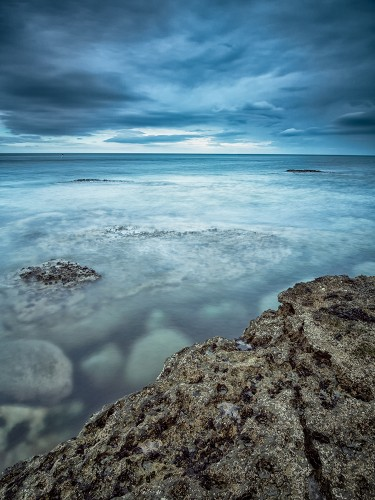 Long exposure on Filey Brigg using an Olympus EM5, 9-18mm lens at f/8.0 and 8 stop ND filter