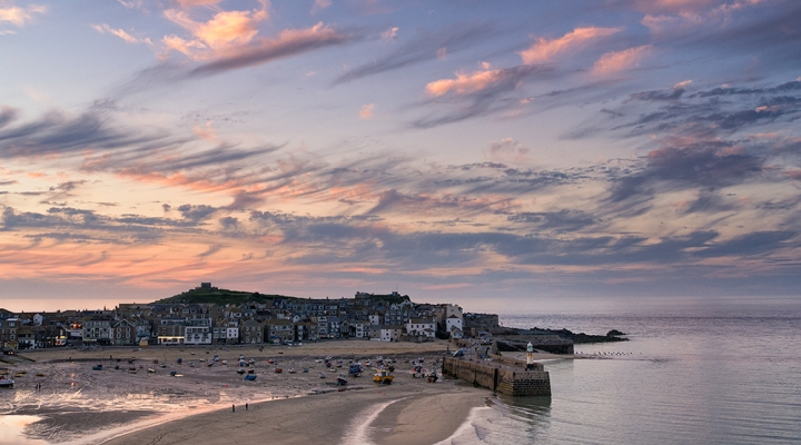 St Ives sunset. Olympus EM5 with post processing in Nik Color Efex and Viveza.