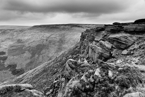 The hills and moors above Dovestones in Saddleworth