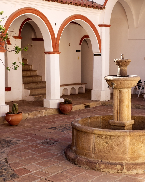 Hostle Courtyard, Potasi, Bolivia