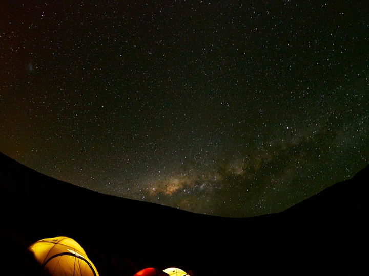 Bolivia at night. Olympus EM5, Samyang fisheye lens, f/3.5, ISO800, 73 second exposure.