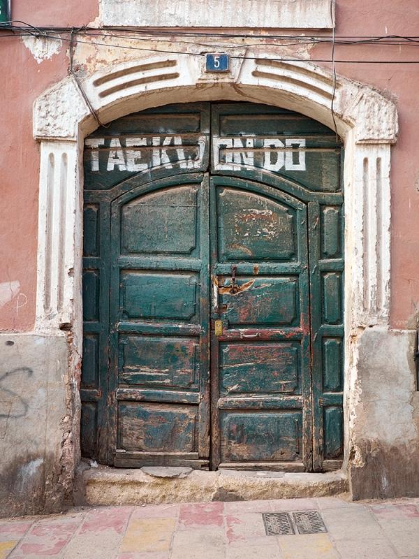 Doorway in Potasi, Bolivia