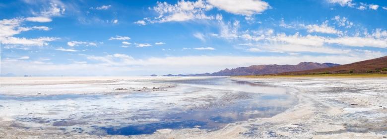 Uyuni Salt Flats, Bolivia. Four images on the Olympus EM5, stitched in Photoshop.