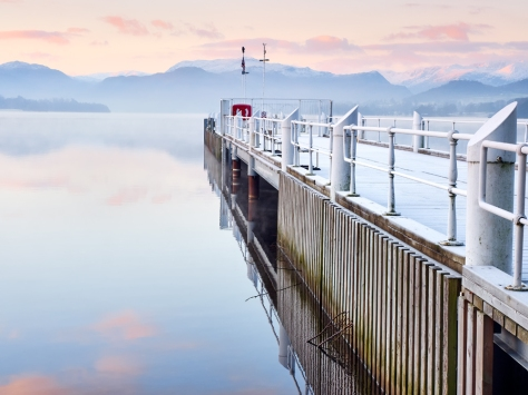 Ullswater Boat Jetty, The Lake District, England