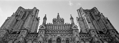 Wells Cathedral, XPan with 45mm lens and Kodak TMAX400