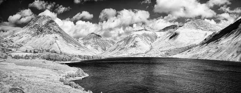 Wastwater in the Lake Distric. 4 images on a GX1 Infrared camera.