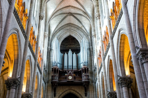 "Church in Nantes, France. Sony RX10, ISO 400, f/4.0, 1/20"""