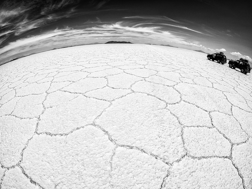 Salt Flats, Bolivia. Olympus EM5 with Samyang 7.5mm Fisheye.