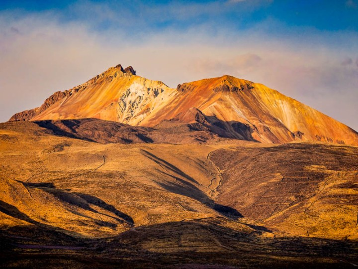 Bolivia Volcano sunset. Processed with Topaz Adjust.