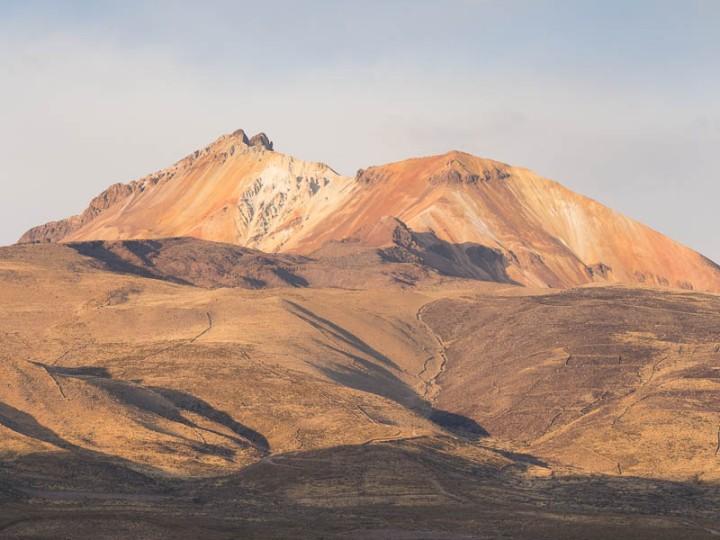 Bolivia Volcano before adjustment