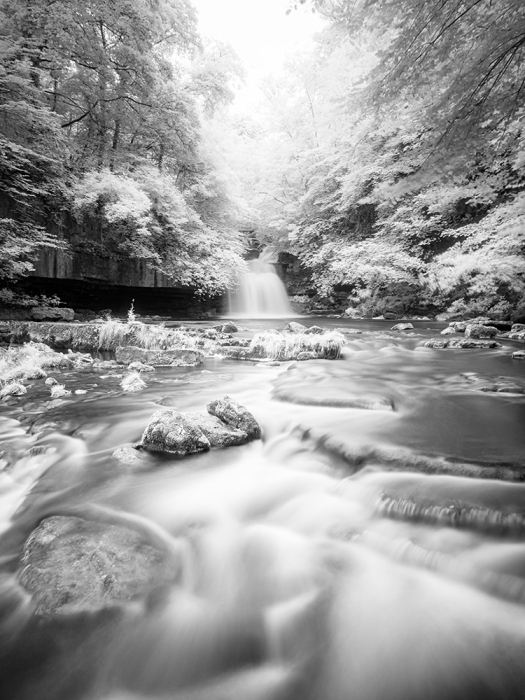 West Burton Falls, Yorkshire Dales. Olympus EM5 converted for Infrared