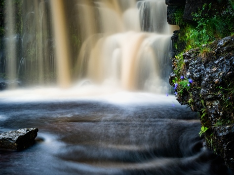 """Waterfall at Keld in the Yorkshire Dales. Olympus EM5, ISO200, f/4.5, 13"""". Lee Little Stopper filter for the long exposure."""