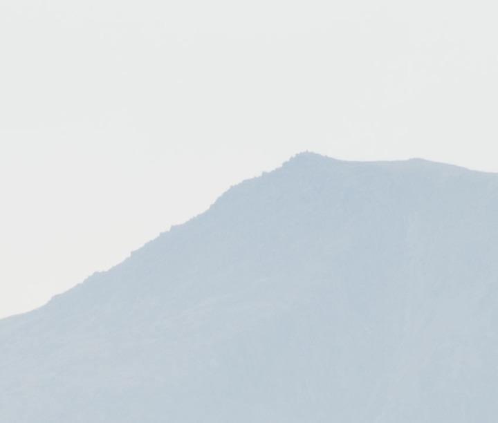 Distant hills - in focus