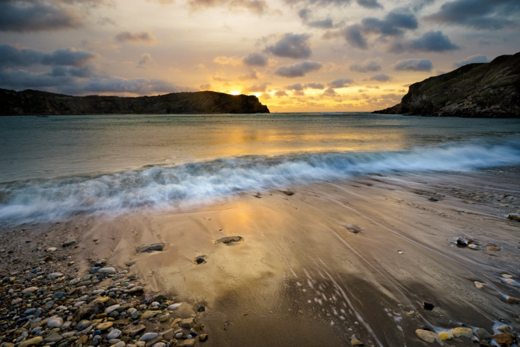 "Lulworth Cove, Dorset. Sony A7r + 16-35mm Canon L lens. ISO50, f/14, 0.6"" exposure. 0.6ND grad and polariser."