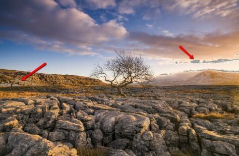 Image showing Gamut Warning in Photoshop