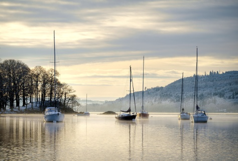 """Lake Windermere, Ambleside, the Lake District. Sony A7r + 70-300 Canon lens. ISO100, 1/100"""" at f/14.0"""