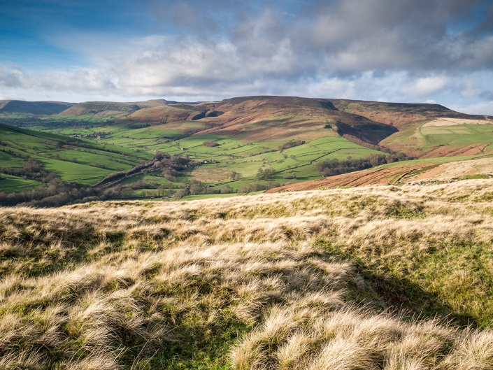 The Peak District towards Kinder Scout. Panasonic GM1 + 12-32mm lens. 0.3 ND Grad on the sky. All processing in Lightroom.