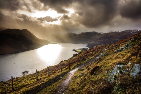 View from above Ullswater in February. Sony RX10 with 0.6 ND Graduated filter.
