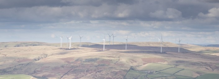 Starting image of the wind farm prior to any adjustment