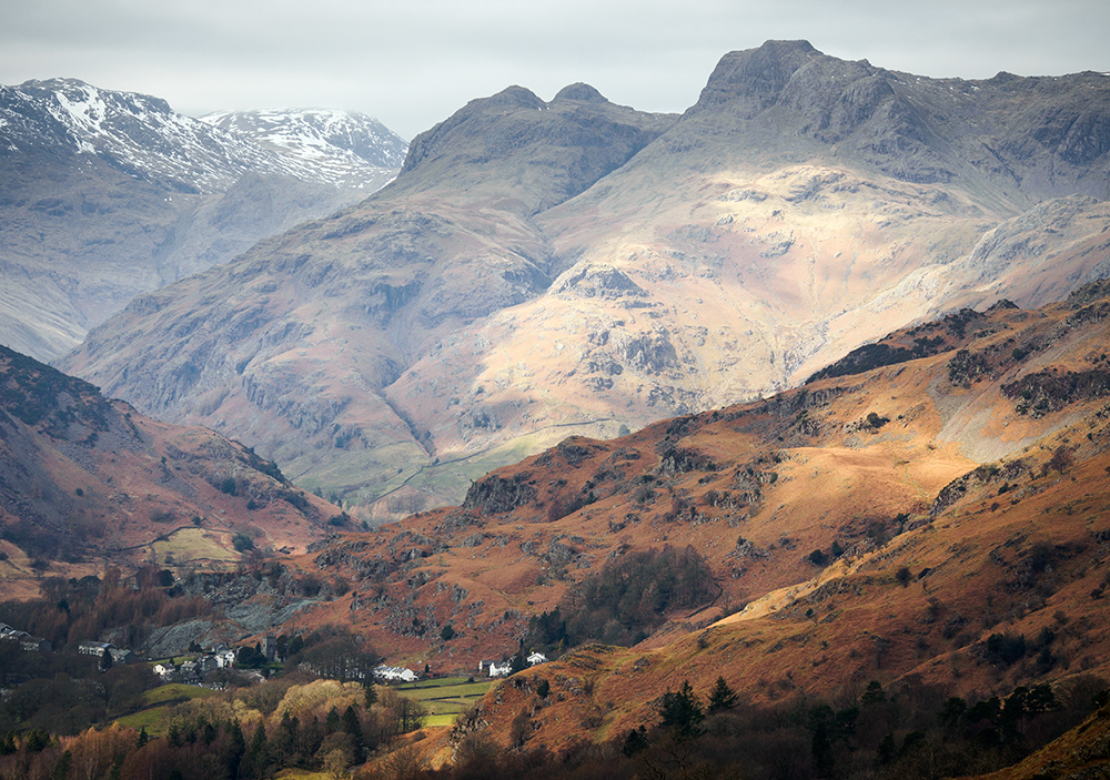 The Langdales in the Lake District. Olympus EM5, 45-150 lens. Handheld.