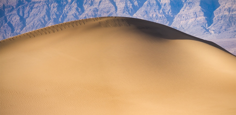 """Death Valley Sand Dune. Panasonix GX1 with 45-150mm lens. f/8.0, ISO 160, 1/200""""."""