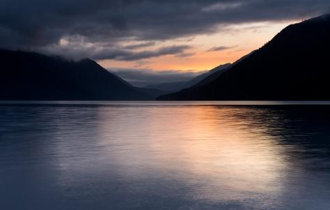 Evening at Crescent Lake, Washington, USA.