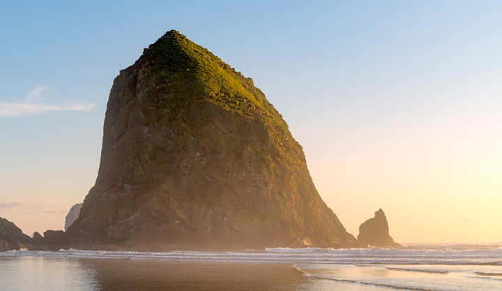 Haystack Rock, Canon Beach, Oregon. Sony A7R with Canon 24-70 lens.