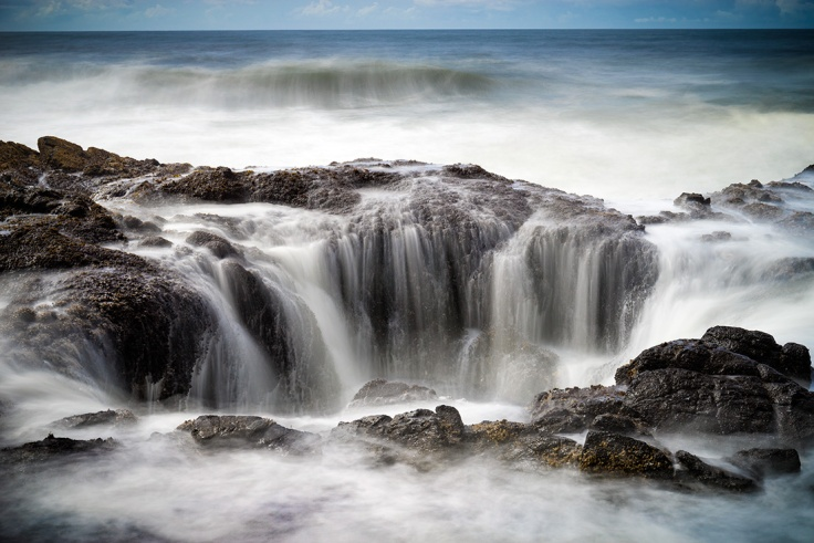 "Thor's Well, Cape Perpetua, Oregon, USA. Sony A7r, 24-70 Canon lens, ISO100, 5"" at f/10.0. Lee 10 stop ND filter."
