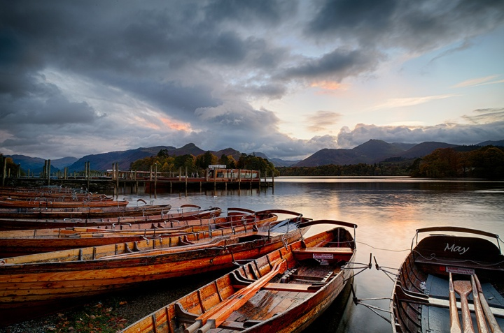 Derwent Water, Keswick. Canon 5D MKII. 4 Image sequence merged to HDR with Nik HDR Efex Pro 2.