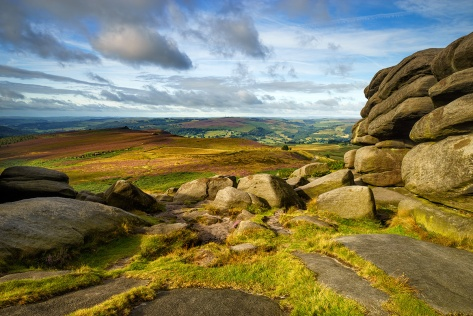 "Higger Tor. Sony A7R + Canon 16-35mm lens. ISO50, f/18.0, 1/4"". Tripod mounted with 0.6ND Grad and Polarising filter."