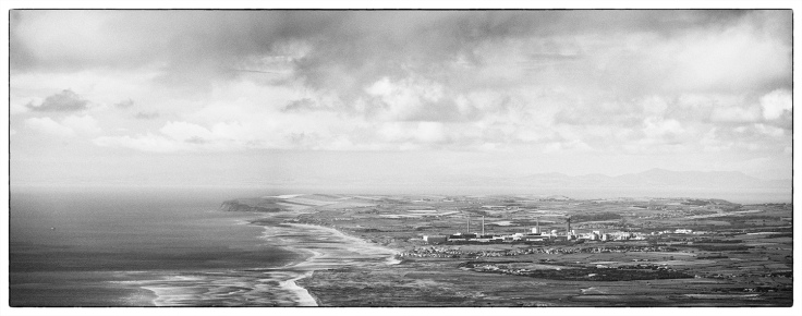 Seascale Nuclear Power Station. Olympus EM5, Panasonic 45-150. Three image stitch with post processing in Nik Silver Efex.
