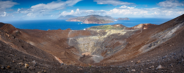 The Volcano on Vulcano. Olympus EM5 with 9-18mm Olympus lens.
