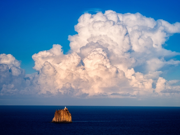 Remains of a volcano off the Island of Stromboli, Italy. Olympus EM5.