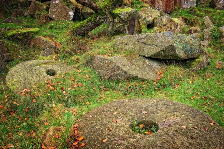 Stones at Padley Gorge. Fuji XT1 + 16-55 lens.