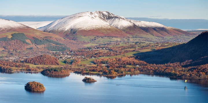 """View across Derwent water from Maiden Moor. The Lake District, Cumbria. Olympus EM5 + 45-150 Panasonic lens. ISO200, f/6.3, 1/500""""."""