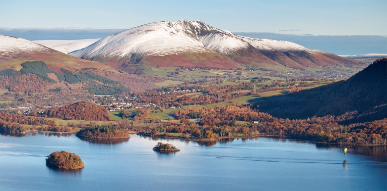 "View across Derwent water from Maiden Moor. The Lake District, Cumbria. Olympus EM5 + 45-150 Panasonic lens. ISO200, f/6.3, 1/500""."