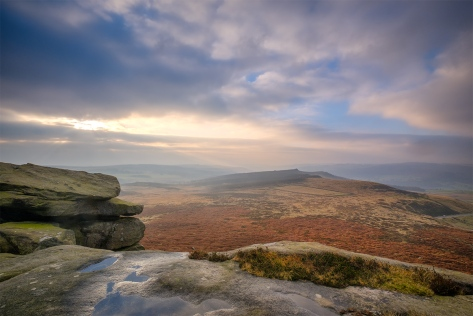 Higger Tor, The Peak District, UK. Fuji XT2, 10-24mm Lens, 0.6 ND Graduate. Three images at 2 stop intervals blended to HDR in Lightroom.