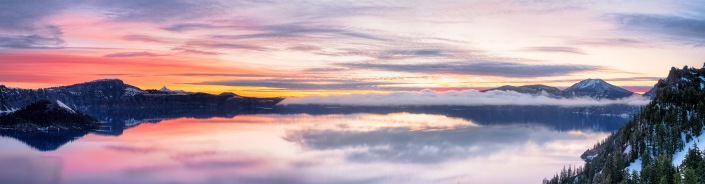 Crater Lake. Panoramic from 4 images on the Olympus EM4.