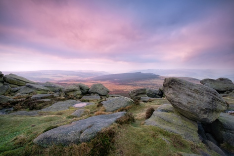 "Morning view from Higgor Tor. Fuji XT2 + 10-24 lens, 0.6 ND Grad filter. ISO200, 1/4"" at f/10.0."