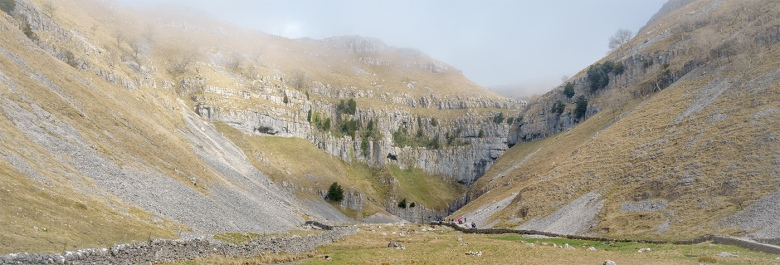 Gordale Scar, The Yorkshire Dales. Three image stitch with the Sony RX10.